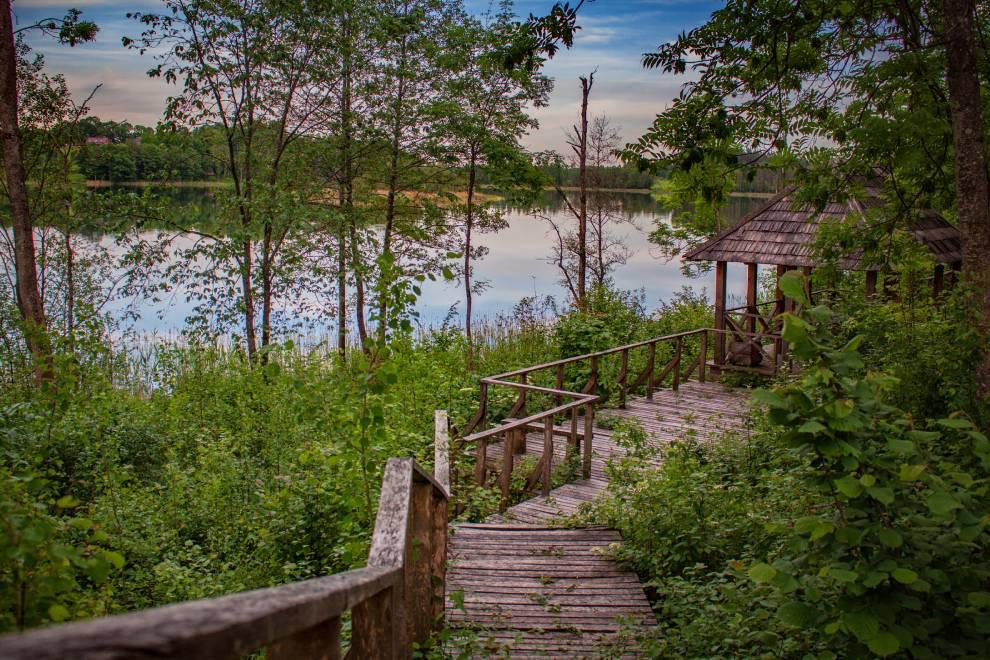 Takas prie Balto ežero ir Lausesos upelio Zarasų r.